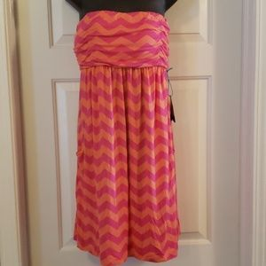 Half moon -Coral and Pink Cover Up -Large